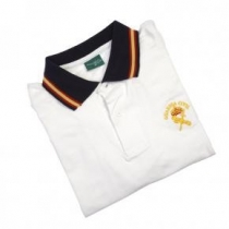 POLO BLANCO  BORDADO EMBLEMA