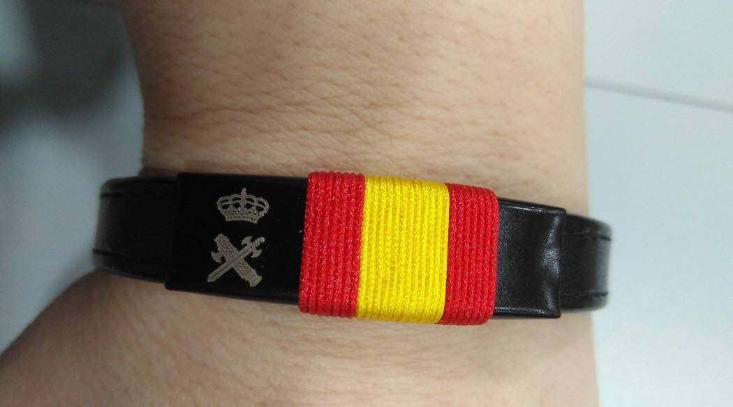 Pulseras bandera España de la Guardia Civil